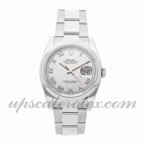 Mens Rolex Datejust 116200 36mm Case Mechanical (Automatic) Movement Rhodium Dial