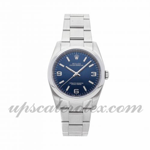 Mens Rolex Oyster Perpetual 116000 36mm Case Mechanical (Automatic) Movement Blue Dial