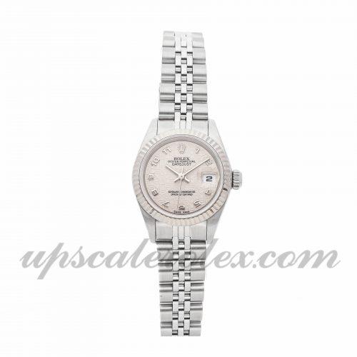 Ladies Rolex Datejust 69174 26mm Case Mechanical (Automatic) Movement Ivory Dial
