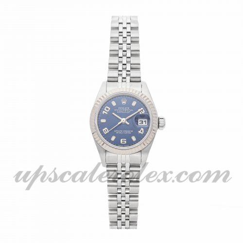 Ladies Rolex Datejust 79174 26mm Case Mechanical (Automatic) Movement Blue Dial