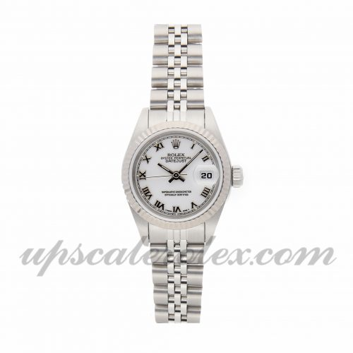 Ladies Rolex Datejust 69174 26mm Case Mechanical (Automatic) Movement White Dial