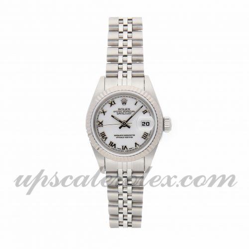 Ladies Rolex Datejust 69174 26mm Case Mechanical (Automatic) Movement White Dial