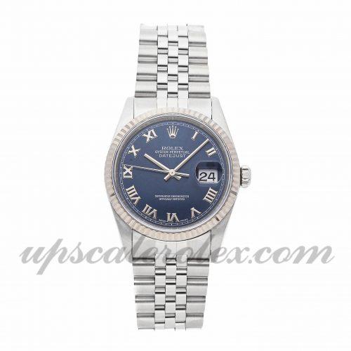 Mens Rolex Datejust 16234 36mm Case Mechanical (Automatic) Movement Blue Dial