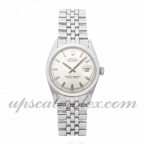 Mens Rolex Datejust 1601 36mm Case Mechanical (Automatic) Movement Silver Dial