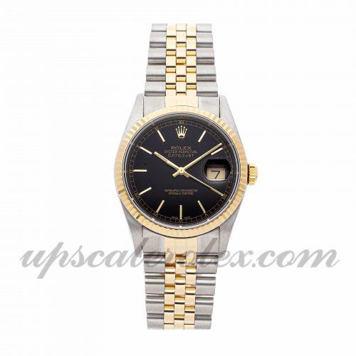 Mens Rolex Datejust 16233 36mm Case Mechanical (Automatic) Movement Black Dial