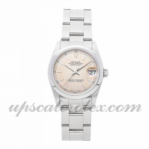 Ladies Rolex Datejust 68240 31mm Case Mechanical (Automatic) Movement Pink Dial