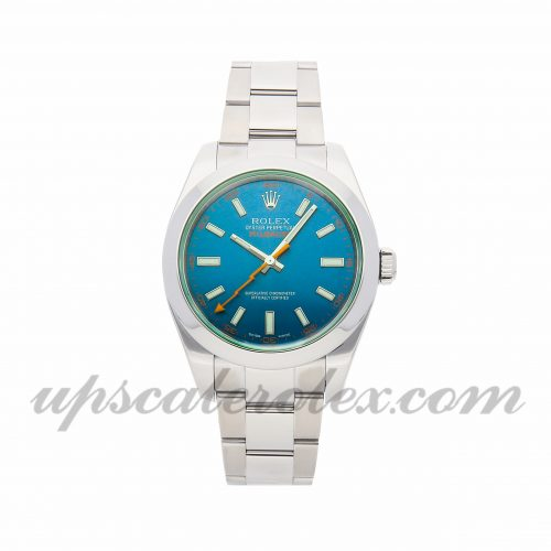 Mens Rolex Milgauss 116400gv 40mm Case Mechanical (Automatic) Movement Blue Dial
