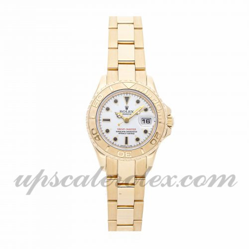 Ladies Rolex Yacht-master 69628 29mm Case Mechanical (Automatic) Movement White Dial