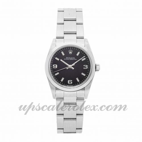 Ladies Rolex Oyster Perpetual 77080 31mm Case Mechanical (Automatic) Movement Black Dial