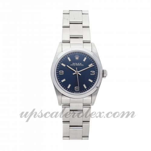 Ladies Rolex Oyster Perpetual 67480 31mm Case Mechanical (Automatic) Movement Blue Dial