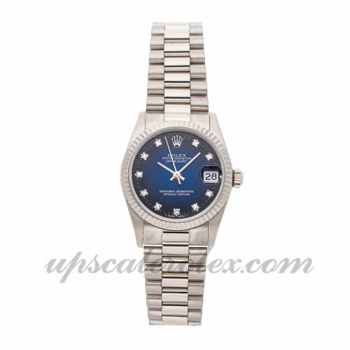 Ladies Rolex Datejust 68279 29mm Case Mechanical (Automatic) Movement Blue Dial