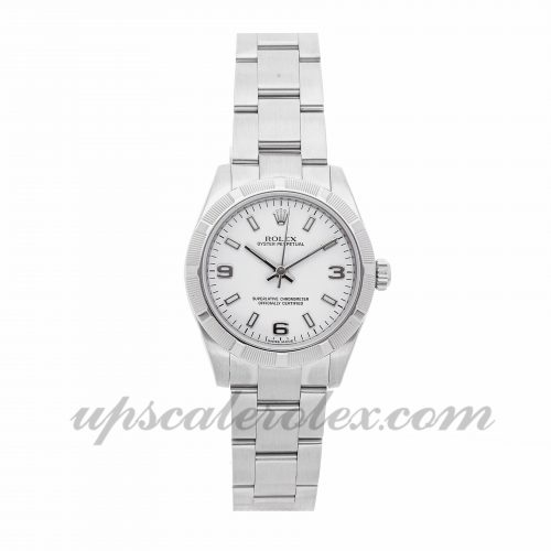 Ladies Rolex Oyster Perpetual 177210 31mm Case Mechanical (Automatic) Movement White Dial