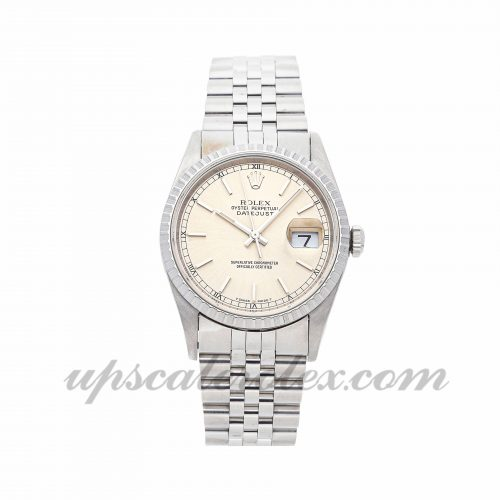 Mens Rolex Datejust 16220 36mm Case Mechanical (Automatic) Movement Silver Dial