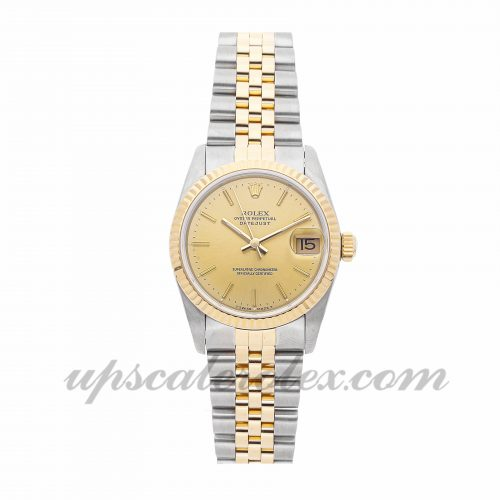 Ladies Rolex Datejust 68273 31mm Case Mechanical (Automatic) Movement Champagne Dial