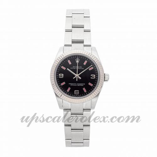 Ladies Rolex Oyster Perpetual 177234 31mm Case Mechanical (Automatic) Movement Black Dial