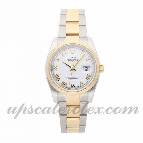 Mens Rolex Datejust 116203 36mm Case Mechanical (Automatic) Movement White Dial