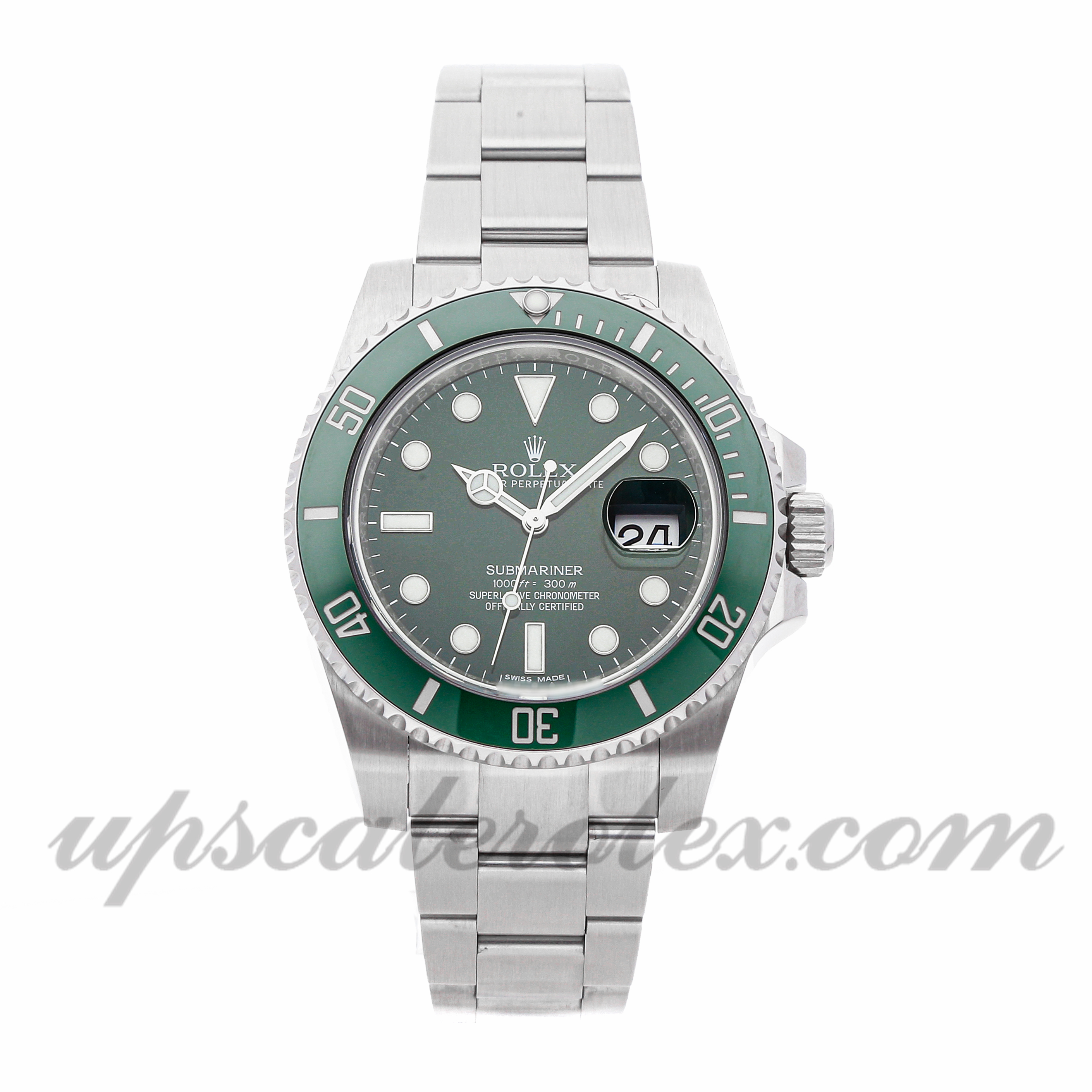 Mens Rolex Submariner 116610lv 40mm Case Mechanical (Automatic) Movement Green Dial