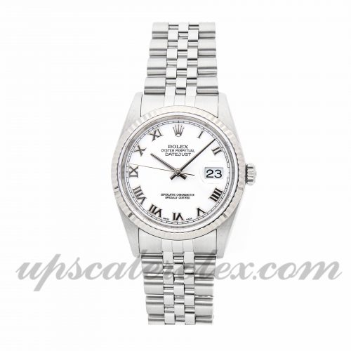 Mens Rolex Datejust 16234 36mm Case Mechanical (Automatic) Movement White Dial