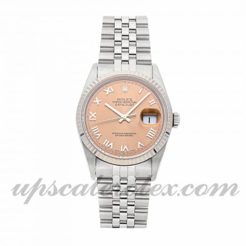 Mens Rolex Datejust 16234 36mm Case Mechanical (Automatic) Movement Pink Dial