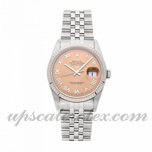 Mens Rolex Datejust 16234 36mm Case Mechanical (Automatic) Movement Pink Dial