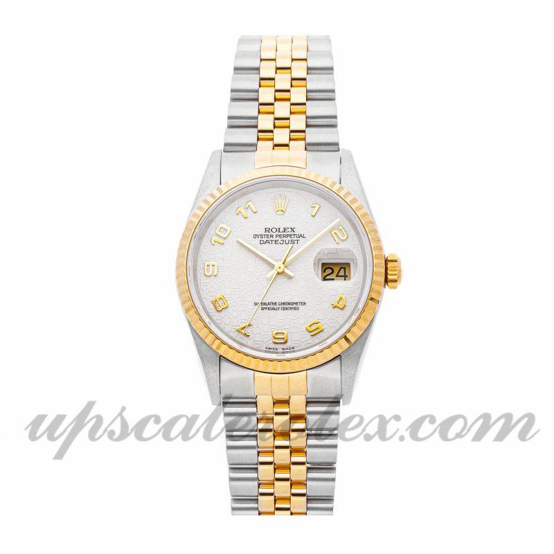 Mens Rolex Datejust 16233 36mm Case Mechanical (Automatic) Movement White Dial