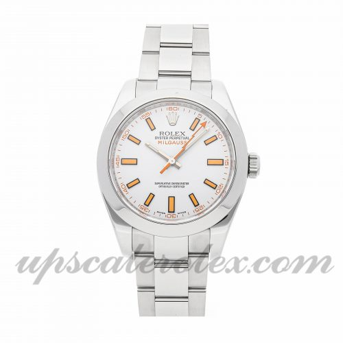 Mens Rolex Milgauss 116400 40mm Case Mechanical (Automatic) Movement White Dial