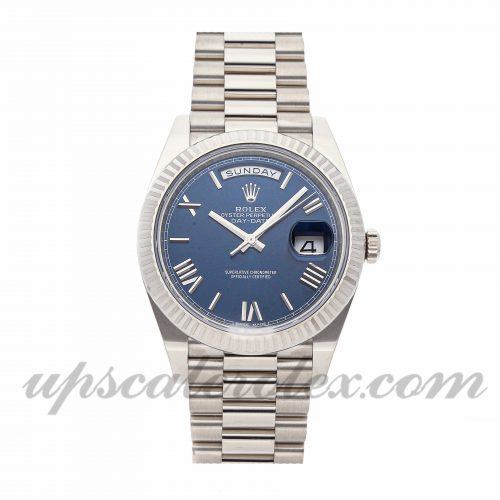 Mens Rolex Day-date 40 228239 40mm Case Mechanical (Automatic) Movement Blue Dial