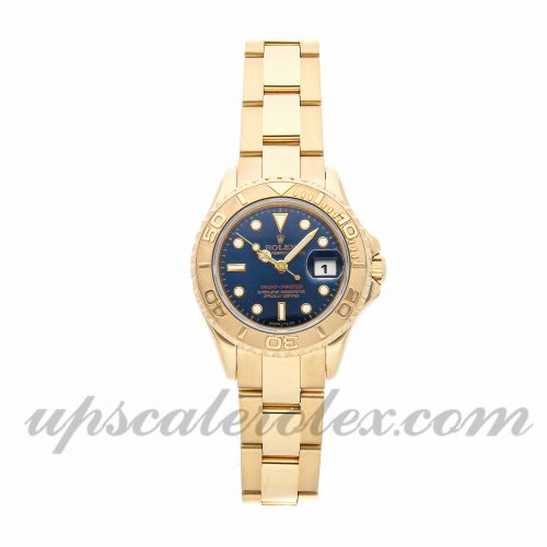 Ladies Rolex Yacht-master 69628 29mm Case Mechanical (Automatic) Movement Blue Dial