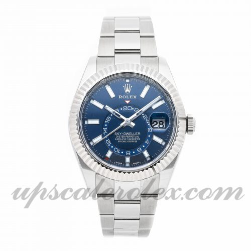 Mens Rolex Sky-dweller 326934 42mm Case Mechanical (Automatic) Movement Blue Dial