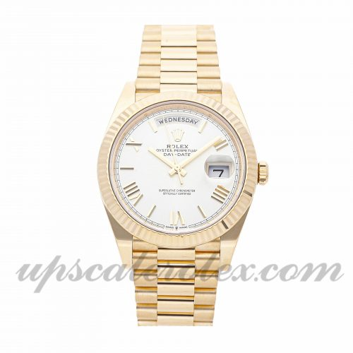 Mens Rolex Day-date 228238 40mm Case Mechanical (Automatic) Movement White Dial