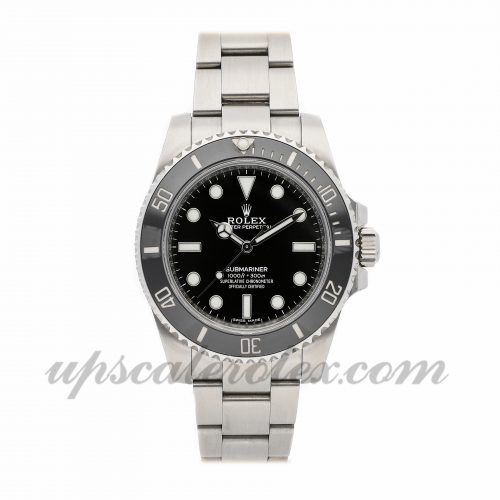 Mens Rolex Submariner 114060 40mm Case Mechanical (Automatic) Movement Black Dial