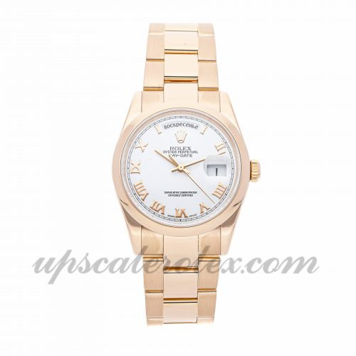 Mens Rolex Day-date 118205 36mm Case Mechanical (Automatic) Movement White Dial