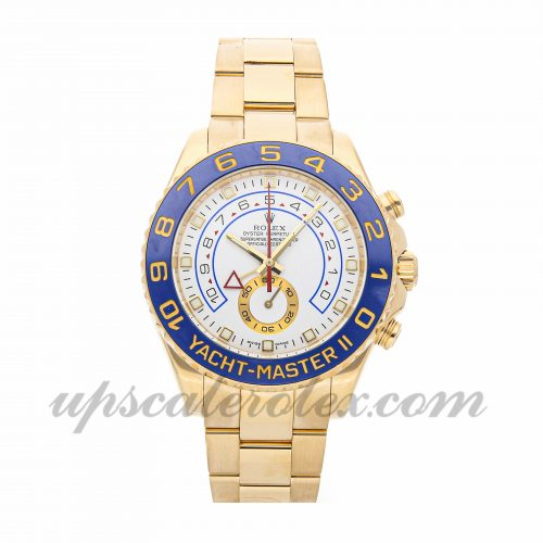 Mens Rolex Yacht-master Ii 116688 44mm Case Mechanical (Automatic) Movement White Dial