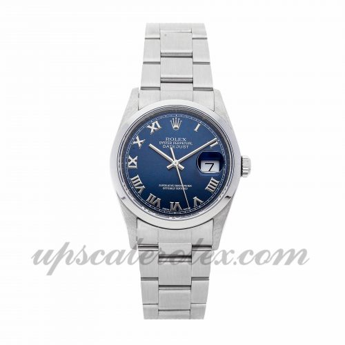 Mens Rolex Datejust 16200 36mm Case Mechanical (Automatic) Movement Blue Dial