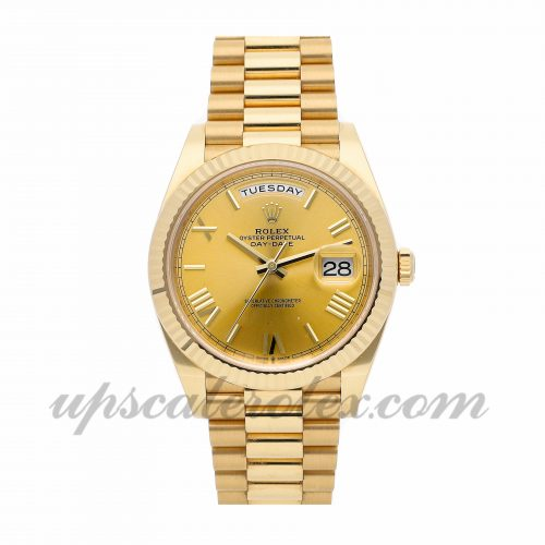Mens Rolex Day-date 228238 40mm Case Mechanical (Automatic) Movement Champagne Dial