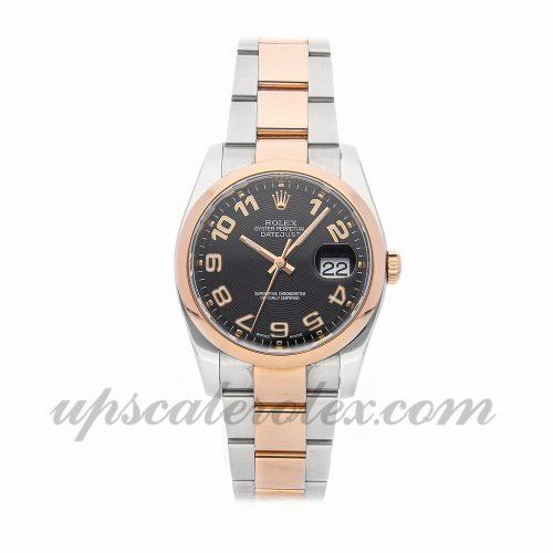 Mens Rolex Datejust 116201 36mm Case Mechanical (Automatic) Movement Black Dial