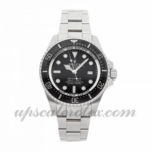 Mens Rolex Sea-dweller Deepsea 116660 44mm Case Mechanical (Automatic) Movement Black Dial