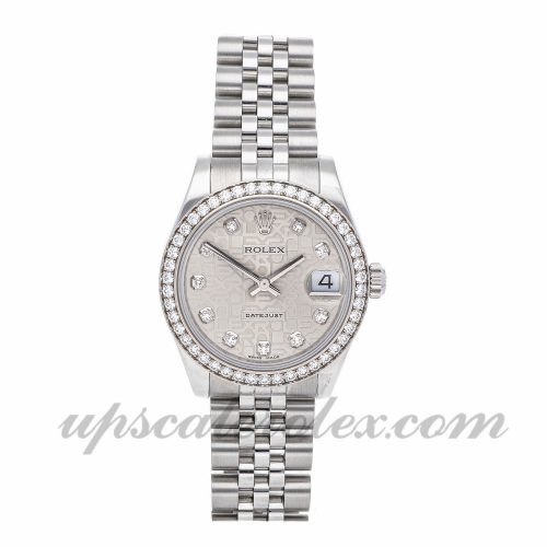 Ladies Rolex Datejust 178384 31mm Case Mechanical (Automatic) Movement Silver Dial