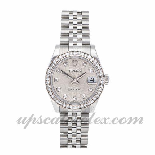 Ladies Rolex Datejust 178384 31mm Case Mechanical (Automatic) Movement Silver Dial