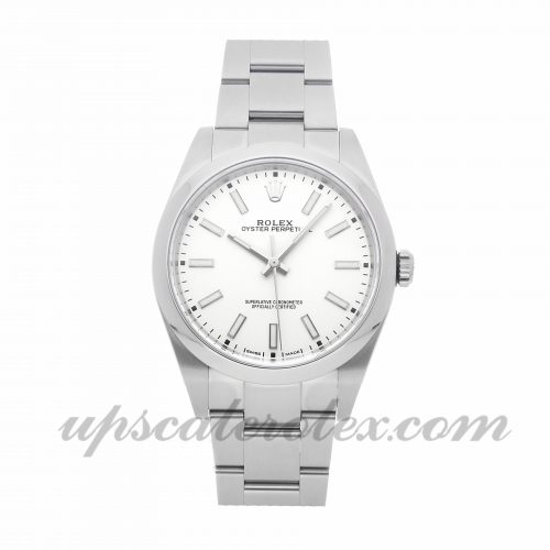 Mens Rolex Oyster Perpetual 114300 39mm Case Mechanical (Automatic) Movement White Dial