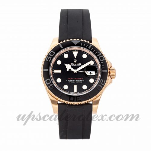 Mens Rolex Yacht-master 116655 40mm Case Mechanical (Automatic) Movement Black Dial