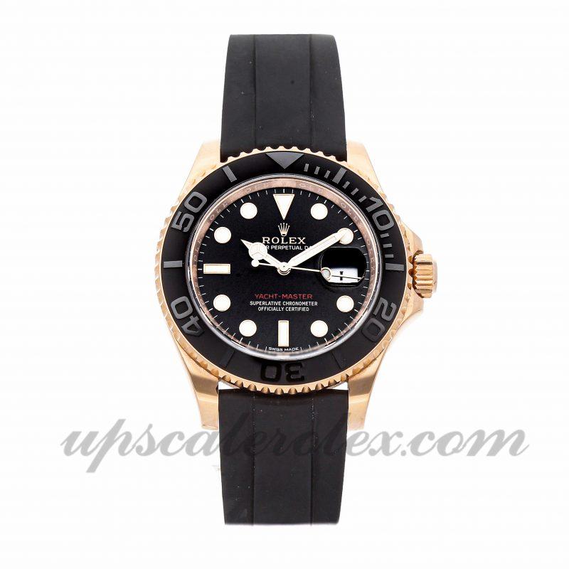Mens Rolex Yacht-master 116655 40mm Case Mechanical (Automatic) Movement Black Dial