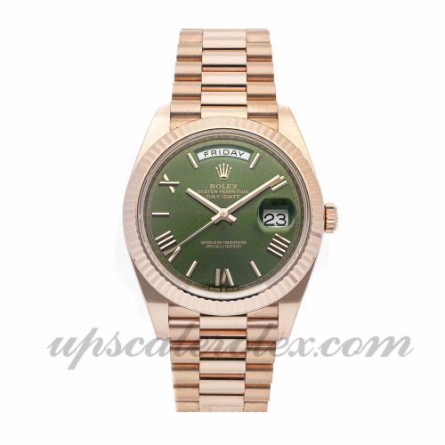 Mens Rolex Day-date 40 228235 40mm Case Mechanical (Automatic) Movement Green Dial