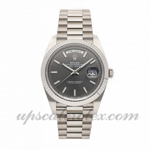 Mens Rolex Day-date 40 228239 40mm Case Mechanical (Automatic) Movement Rhodium Dial