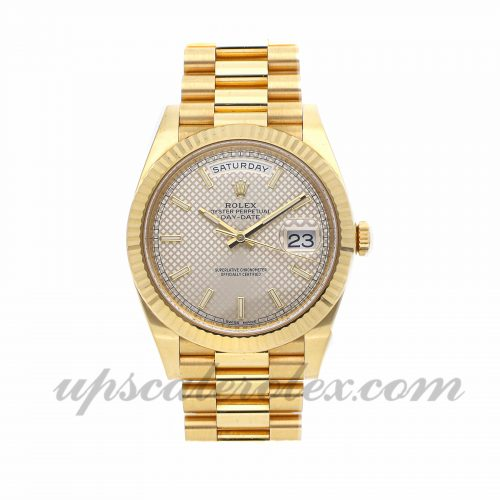 Mens Rolex Day-date 228238 40mm Case Mechanical (Automatic) Movement Silver Dial