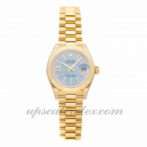 Ladies Rolex Datejust 279178 28mm Case Mechanical (Automatic) Movement Blue Dial