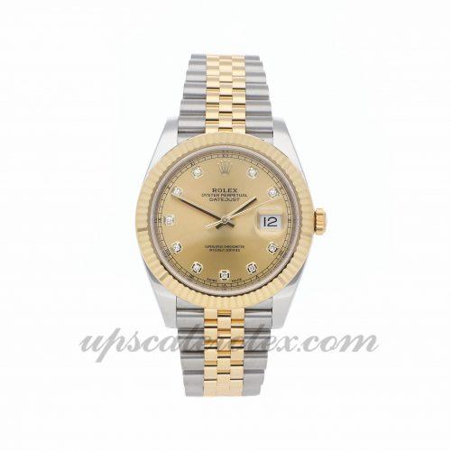 Mens Rolex Datejust 41 126333 41mm Case Mechanical (Automatic) Movement Champagne Dial