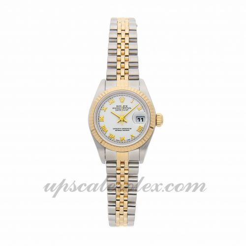 Ladies Rolex Datejust 79173 26mm Case Mechanical (Automatic) Movement White Dial