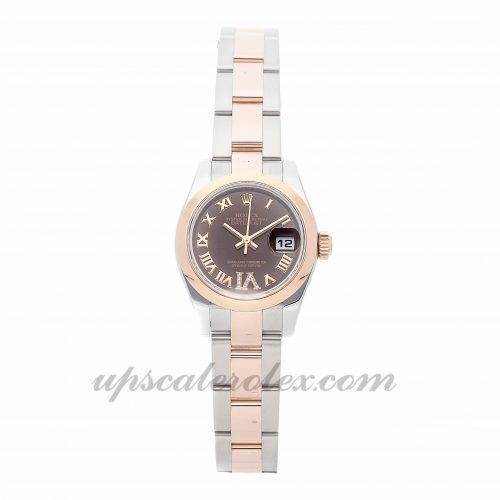Ladies Rolex Datejust 179161 26mm Case Mechanical (Automatic) Movement Brown Dial