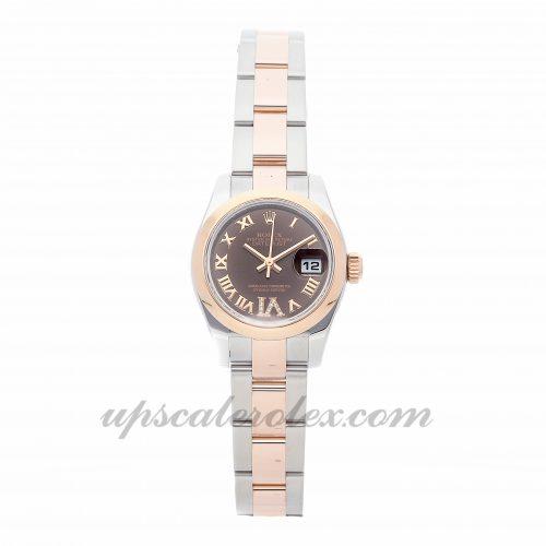 Ladies Rolex Datejust 179161 26mm Case Mechanical (Automatic) Movement Brown Dial